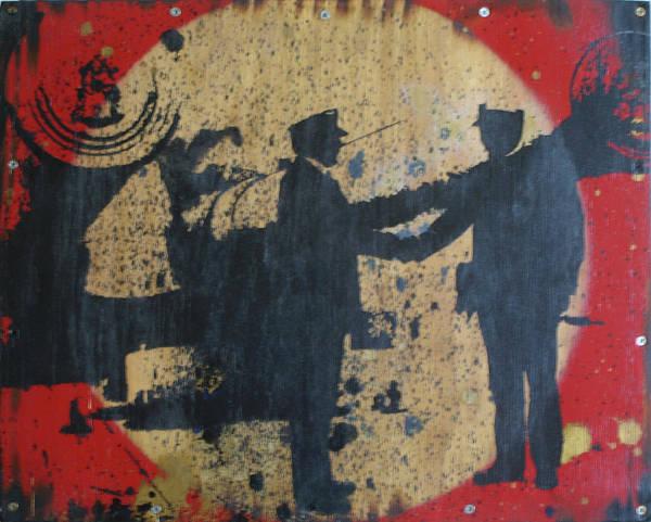 Painting - War Mongers by Erik Paul