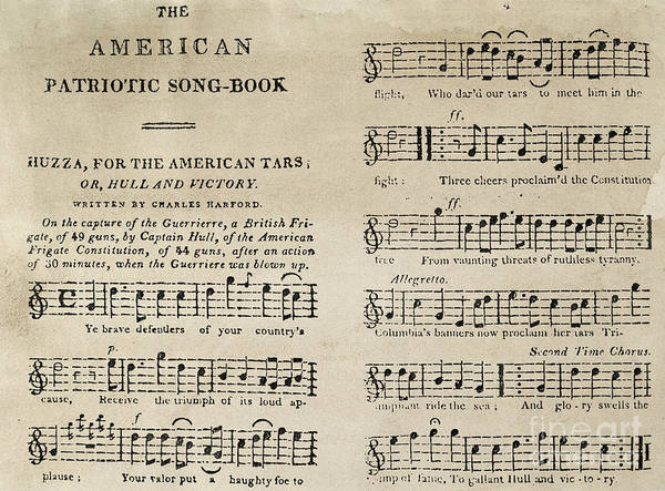 1812 Photograph - War Of 1812: Songbook by Granger