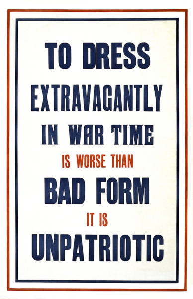 Dress Form Photograph - War Time Dress  1915 by Daniel Hagerman