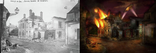 Wall Art - Photograph - War - Wwi -  Not Fit For Man Or Beast 1910 - Side By Side by Mike Savad