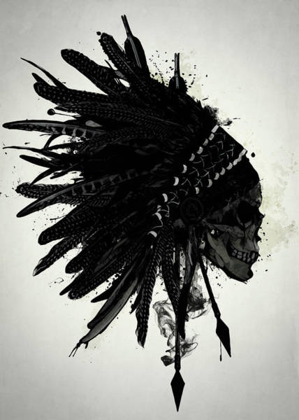 Skulls Wall Art - Digital Art - Warbonnet Skull by Nicklas Gustafsson