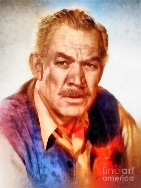 Ward Painting - Ward Bond, Vintage Hollywood Actor by Frank Falcon