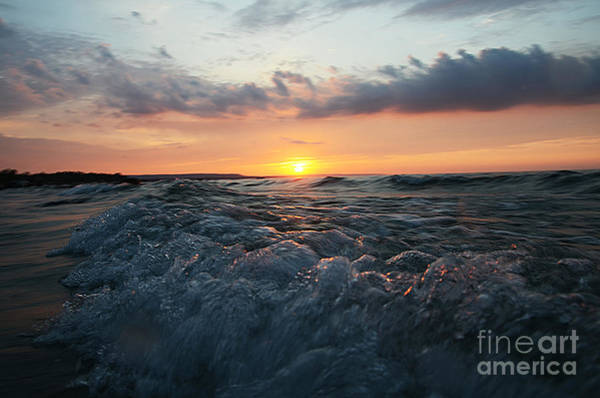 Photograph - Wards Beach Sunset Wave by Steve Somerville