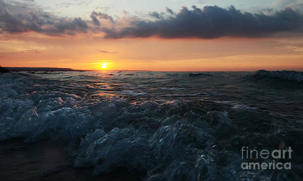 Photograph - Ward's Beach Surf Sunset by Steve Somerville