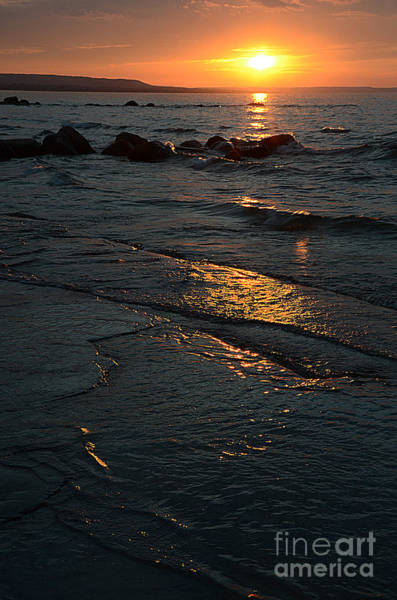 Photograph - Wards Beach Surf Sunset2 by Steve Somerville