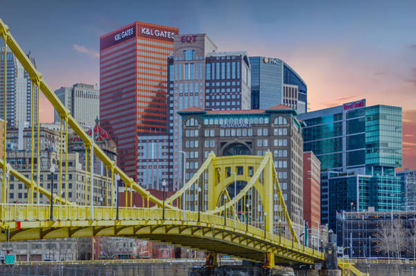 Wall Art - Photograph - Roberto Clemente Bridge Against Beautiful City by Art Spectrum