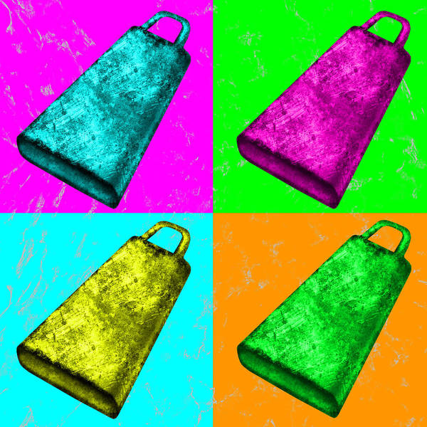 Wall Art - Digital Art - Warhol Cowbell by Persephone Productions