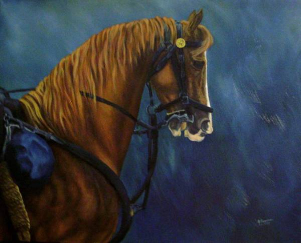 Wall Art - Painting - Warhorse-us Cavalry by Joann Renner