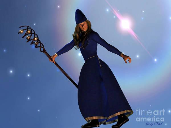 Genie Painting - Warlock by Corey Ford