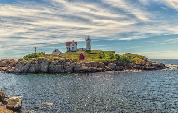 Photograph - Warm Clouds Over Nubble Lighthouse by Brian MacLean