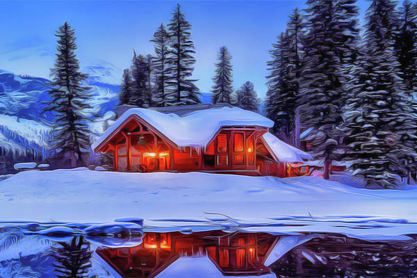 Painting - Warm Cottage by Harry Warrick