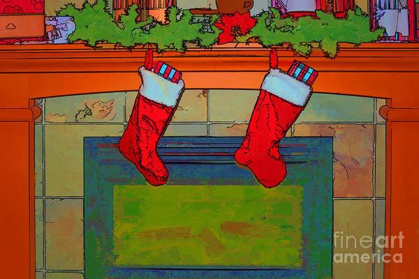 Season Mixed Media - Warm Greetings At Christmas by Teresa Zieba