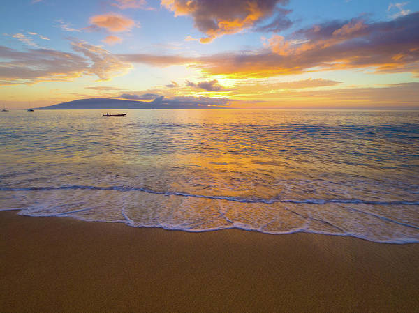Photograph - Warm Ka'anapali Sunset by Christopher Johnson
