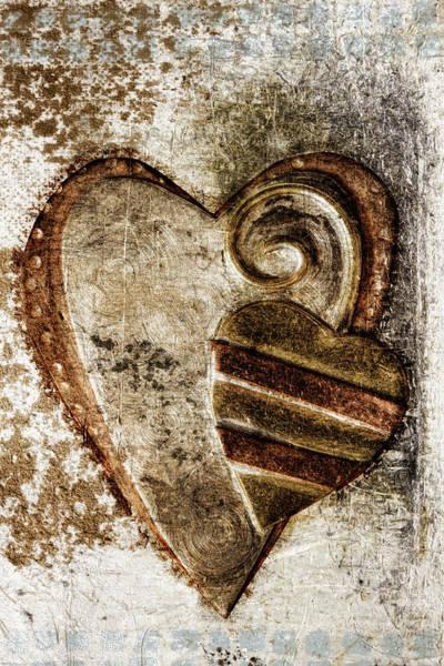Wall Art - Photograph - Warm Love Metal Heart by Carol Leigh
