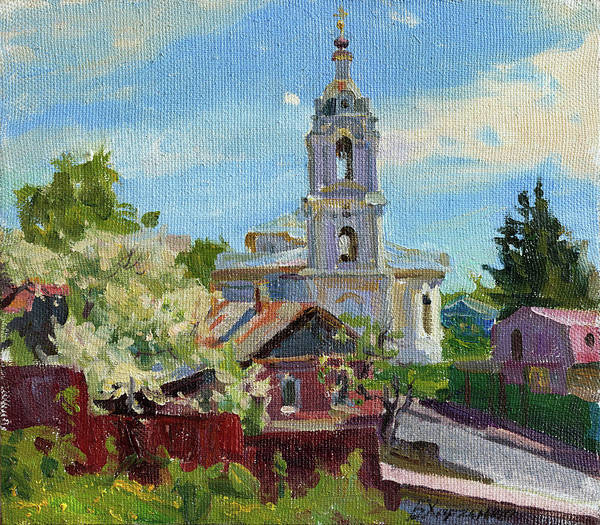 Wall Art - Painting - Warm May In Kaluga by Victoria Kharchenko