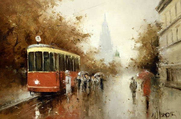 Painting - Warm Moscow Autumn Of 1953 by Igor Medvedev