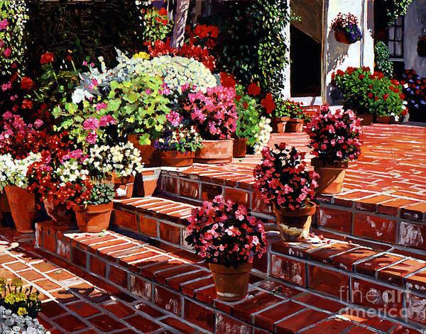Painting - Warm Patio by David Lloyd Glover