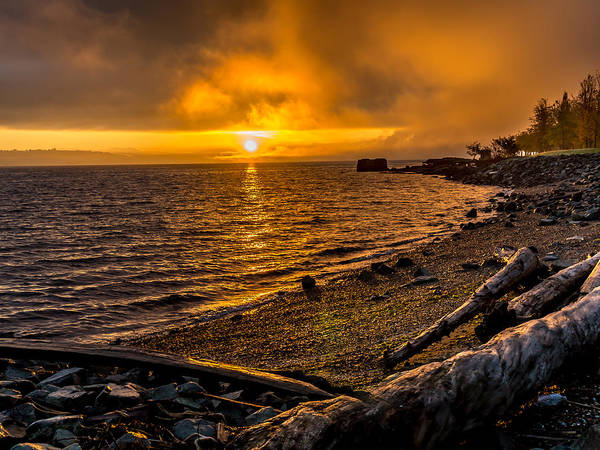 Photograph - Warming Sunrise Commencement Bay by Rob Green