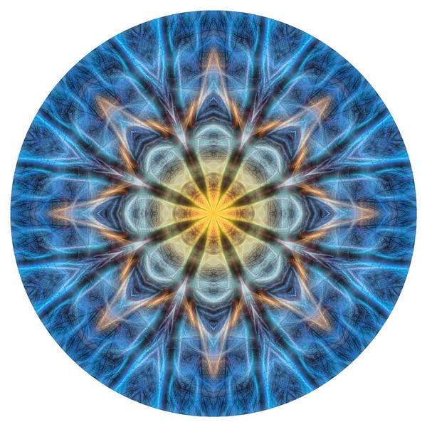 Digital Art - Warmth In The Cold Mandala by Beth Sawickie