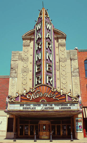 Wall Art - Digital Art - Warner Theatre, Erie, Pa by Jim Zahniser
