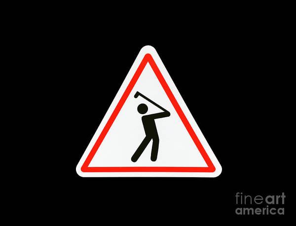 Photograph - Warning Golfer by Mats Silvan