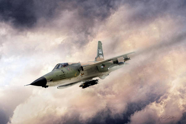 Dog Fight Wall Art - Digital Art - Warpath F-105 by Peter Chilelli