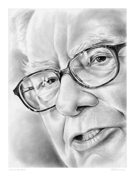 Political Wall Art - Drawing - Warren Buffett by Greg Joens