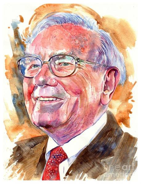 Wall Art - Painting - Warren Buffett Painting by Suzann Sines