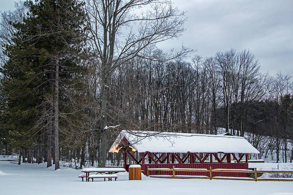 Photograph - Warren Center Covered Bridge by Frank Morales Jr