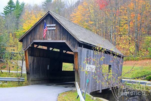 Photograph - Warren Covered Bridge In Vermont by David Birchall