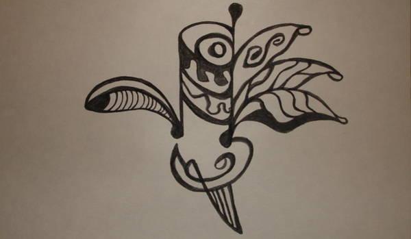 Oahu Drawing - Warrior Bird by Erika Swartzkopf