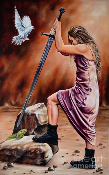 Sword Painting - Warrior by Ilse Kleyn