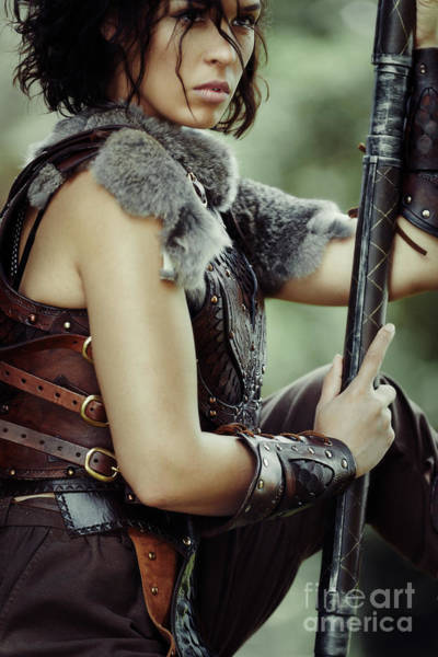 Cosplay Photograph - Warrior Princess In Battle by Amanda Elwell