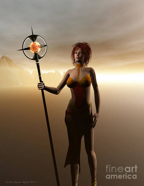 Digital Art - Warrior Princess by Sandra Bauser Digital Art