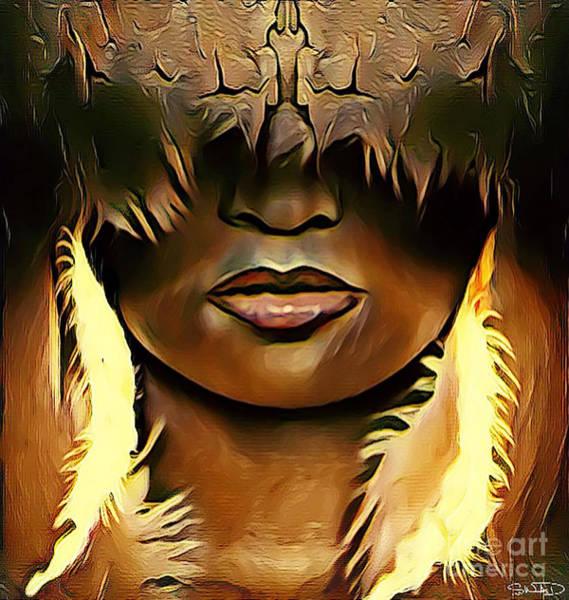 Digital Art - Warrior Queen Shaayna by Swedish Attitude Design