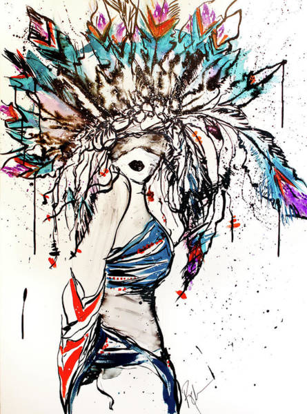 Seek Painting - Warrior by Reba Arts