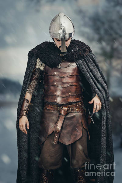 Game Of Thrones Photograph - Warrior Wearing Helmet by Amanda Elwell