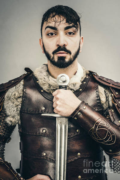 Game Of Thrones Photograph - Warrior With Sword by Amanda Elwell