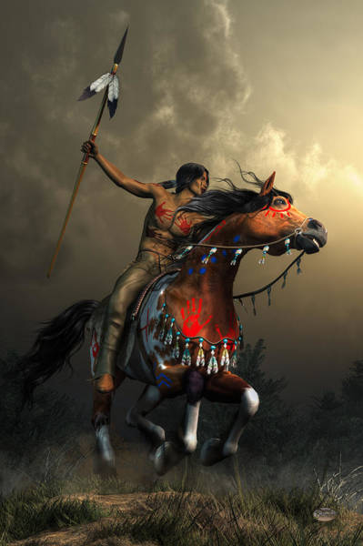 Horseback Wall Art - Digital Art - Warriors Of The Plains by Daniel Eskridge