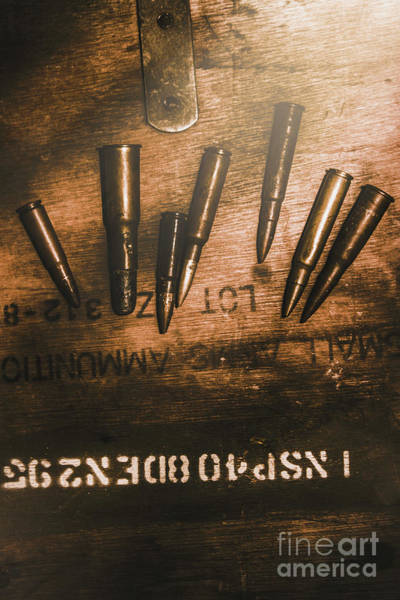 Dark Background Photograph - Wars And Old Ammunition by Jorgo Photography - Wall Art Gallery