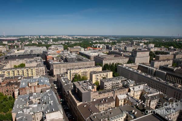 Wall Art - Photograph - Warsaw Buildings Skyline by Arletta Cwalina