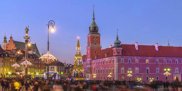 Photograph - Warsaw Royal Castle Lighted For Christmas by Julis Simo