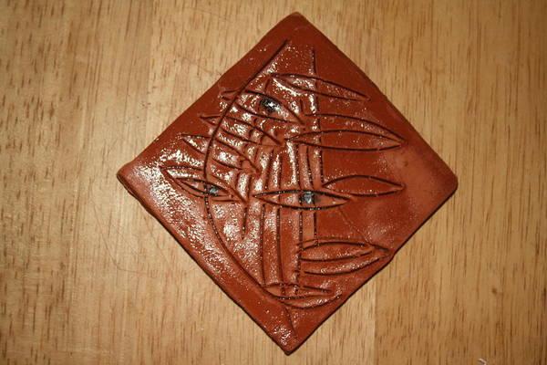 Ceramic Art - Wary - Tile by Gloria Ssali
