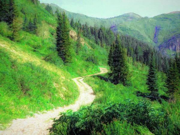 Digital Art - Wasatch Mountain Highway by David King