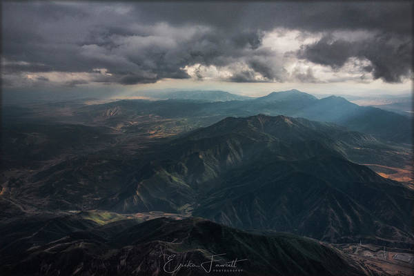 Photograph - Wasatch Mountains by Erika Fawcett