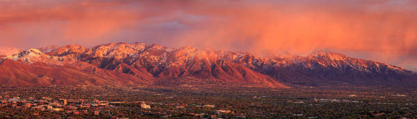 Photograph - Wasatch Sunset From Ensign Peak. by Johnny Adolphson
