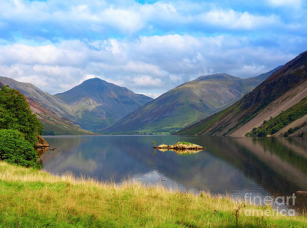 Wast Wall Art - Photograph - Wasdale And Wast Water With Great Gable And Lingmell by Louise Heusinkveld