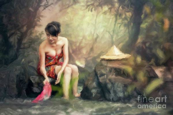 Chinese Girl Painting - Wash Day by Sarah Kirk