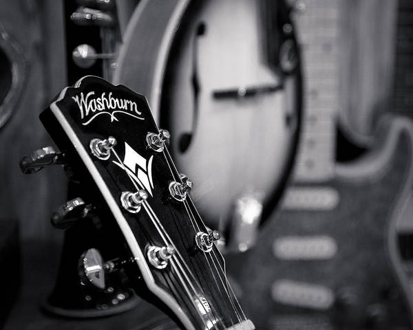 Photograph - Washburn Guitar by Andy Crawford