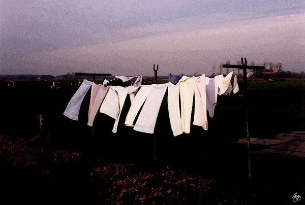 Photograph - Washday In Amsterdam by Wayne King